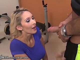 Stepmom Seduces her stepson at the Gym