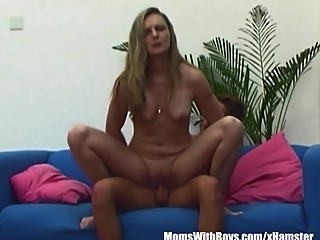 Blonde Mama Fucking With Dildo Caught By..