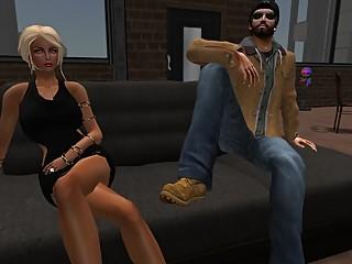 Fred Adjani avec son Ex Venicie en mini..