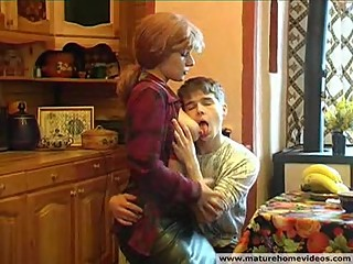 Russian Redhead Mom and son