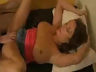 Son manipulates his step mom into sex