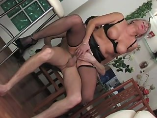 Young boy and very hot russian mature